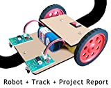 Kit4Curious Nasa Tech Line Tracker Following Robot with Track and Project Report (Multicolour)