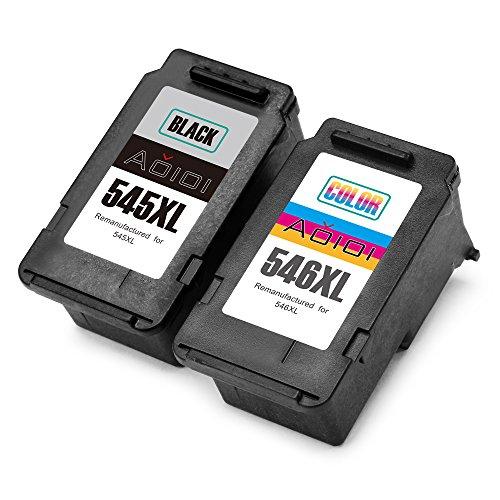 Aoioi Remanufactured Canon PG-545 XL CL-546 XL Cartucce d'inchiostro (1 Nero/1 colore) Compatibile...
