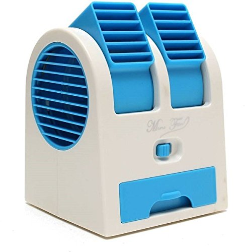 Dual Bladeless Mini Air Conditioner Cooling Fragrance Fan Random Color