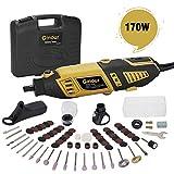 Amoladora eléctrica, Ginour 170W con 109 accesorios, 7...