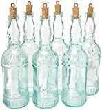 Country Home Assisi Bottle 25oz / 710ml - Set of 6 - Bormioli Rocco Vintage Glass Bottle with Stopper