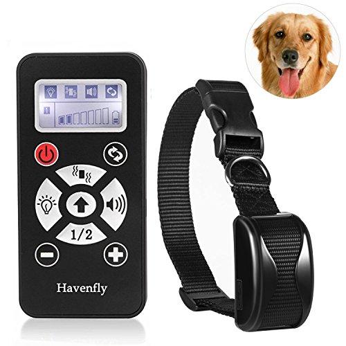 Havenfly El Mejor Collar del Entrenamiento para los perros-800yard Recargable y Collar alejado Impermeable del Perro con la señal Sonora, la vibración y el Collar electrónico
