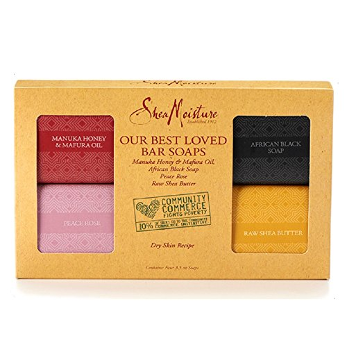 Shea Moisture Our Best Loved Bar Soaps - CONTAINS Forno 3.5 oz Soaps (Dry Skin Recipe)