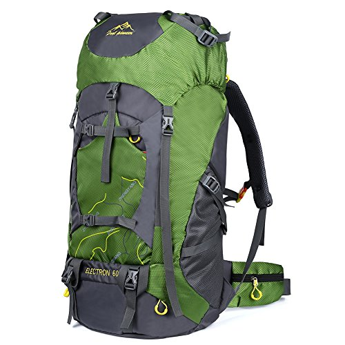 f5476b79ff864 Vbiger Mochila al Aire libre de 60L Mochila de Viaje Impermeable Mochila de  Escalada Senderismo Trekking