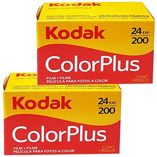 2 Rullini Kodak Color Plus 35mm 200/24 - Conf. da 2 pz. - Pellicola - Rullino - Fotografia