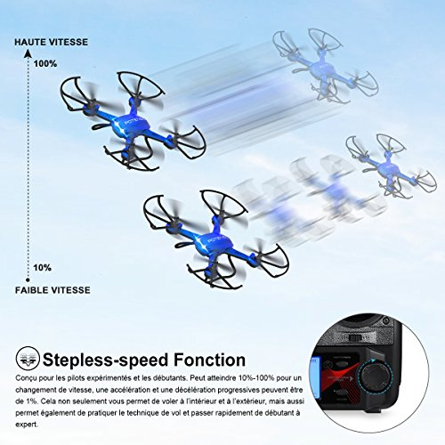 Potensic® Fonction Stepless-speed RC drone F181DH 5.8GHz 4CH 6-Axis Gyro RC Quadcopter drone avec 2 mégapixels caméra HD, Fonction Altitude ... 24
