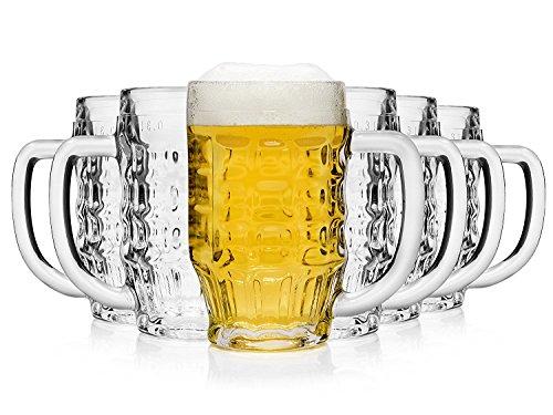 Bormioli Malles Bicchiere Birra, Vetro, Trasparente, 11 x 7.5 x 13 cm
