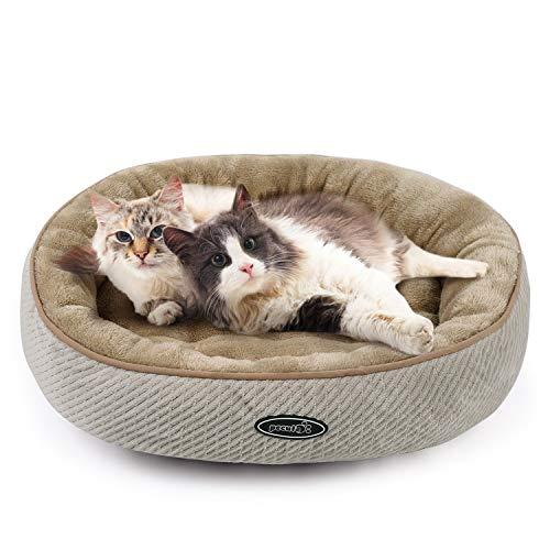 Pecute Cuccia per Gatti e Cani, Realizzato in Fondo Antiscivolo di PVC, Letto Morbido Confortevole per Animali Domestici(M)