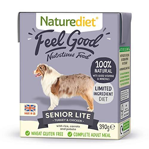 Alimento para perros adultos, de Naturediet, con verduras y arroz (18 x 390 g, 7020 g)