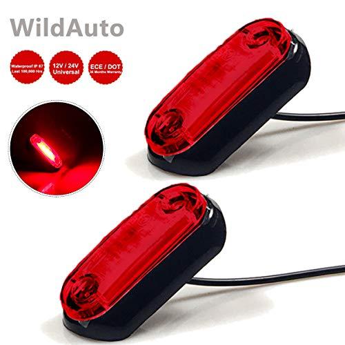 WildAuto Luci di posizione per Auto laterali Luci di Indicatore luce di sicurezza,indicare...