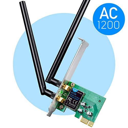 Cudy WE1200 Scheda di Rete WiFi PCIe 1200Mbps, Scheda WiFi pc Fisso, Dual Band 300/867 Mbps,...