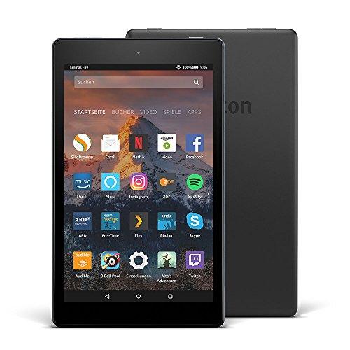 Fire HD 8-Tablet mit Alexa, 20,3 cm (8 Zoll) HD Display, 32 GB (Schwarz), mit Spezialangeboten