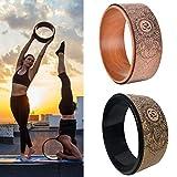CampHiking Rueda De Yoga De Corcho Natural - Rodillo Fuerte Premium Diseñado para La Postura De La Rueda De Yoga Dharma, para Estirar Y Mejorar Las Pesas De La Espalda Entrenamiento Pilates