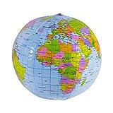 Ballon globe terrestre gonflable (36cm de...