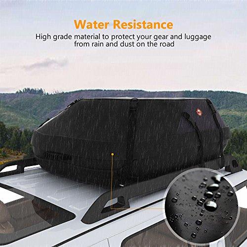 sailnovo coffre de toit voiture noir souple 580l 20 7 pieds cubes pour voiture 130 100 45cm. Black Bedroom Furniture Sets. Home Design Ideas