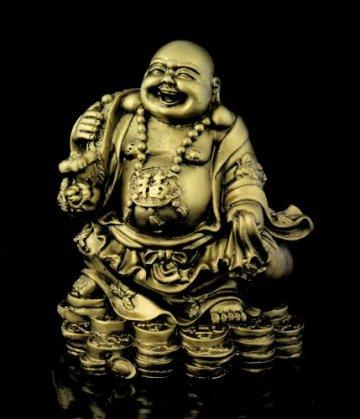 Figura de Buda - monje budista de acabado de latón decoración Estatua accesorio decorativo objeto decorativo para decorar el salón hogar dispositivo objeto Asiatica pisapapeles 4