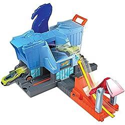 Mattel Hot Wheels-T-Rex Ataque a la Ciudad, Pistas de Coches de Juguetes niños +4 años GBF92