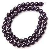 Grifri Ametista pietre preziose perle naturali rotonde perle per gioielli fai da te perle 8 mm oltre 50 pezzi