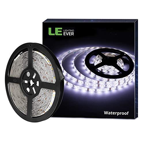 LE Striscia Luminosa LED 5m 18W, Flessibile Impermeabile IP65, 300 LED 2835 Luce Bianca Diurno per...