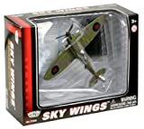Richmond Toys, Motormax, Sky Wings Classic Spitfire Aircraft Die-Cast Model Approx 1:100 Scale with Authentic Details