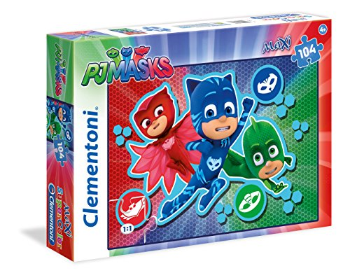 Clementoni 23707 - Puzzle Maxi 2 PJ Masks, 104 Pezzi