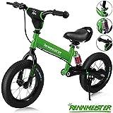 Deuba Rennmeister Laufrad | pneum. Breitreifen | Handbremse | Anti-Shock | Lenkerpolster | Kinder Fahrrad Lauflern Rad Balance Bike 12'