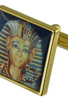 Boy Rey Egipto Gemelos de oro con una selección de bolsa de regalo