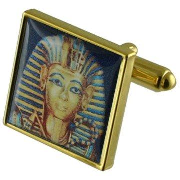 Select Gifts Boy Rey Egipto Gemelos de oro con grabados caso personalizado 3