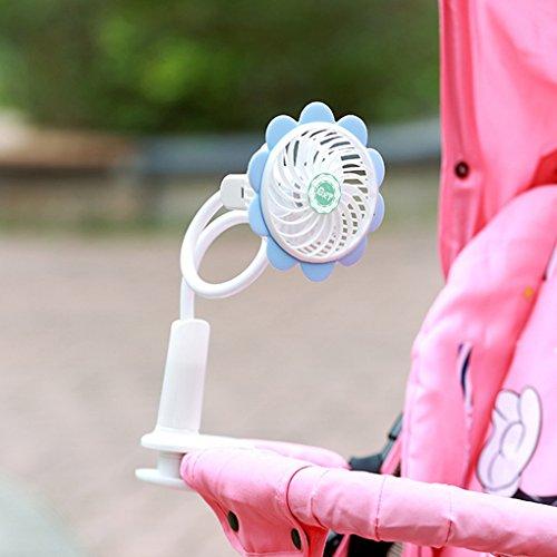 Mini ventilatore elettrico portatile a clip, con USB e alimentazione a batteria, flessibile, per...