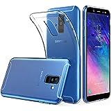 Peakally Funda Samsung Galaxy A6 Plus / A6+ 2018,Carcasa Transparente Delgado Silicona Funda para Samsung A6+ 2018 Carcasa Flexible Claro Ligero TPU Fundas [Antideslizante] [Resistente a arañazos]