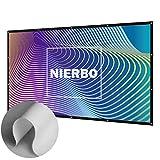 Écran de Projection Portable, NIERBO 100 Pouces 16 9 Toile de Projection Double Face Pliable Projection Ecran Videoprojecteur pour Home Cinema ou Bureautique - 227X132cm