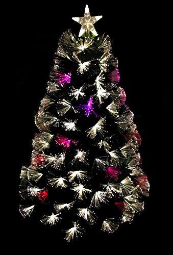 Christmas Concepts 48 pollici (4FT) LED verde Firework in fibra ottica Albero di Natale con LED bianco caldo + Luci LED che cambiano colore