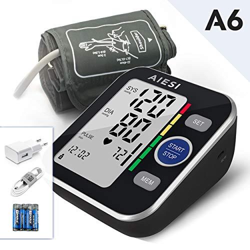 AIESI Misuratore di pressione sanguigna da braccio professionale digitale automatico per adulti...
