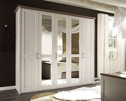 AVANTI TRENDSTORE - Armadio in colore pino bianco , ca. 235x213x61cm