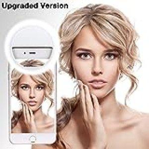 Selfie Light, Webcast Exterior Indispensable 36 LED de luz de Anillo suplementario para Cualquier teléfono Celular/Tableta y fotografía (Blanco)