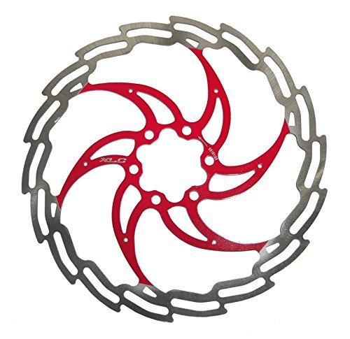XLC, Disco Freno BR-X02, Rosso (Silber/Rot), ∅ 180 mm