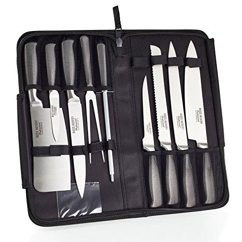9-teiliges Ross Henery Professional Eclipse-Messerset aus Edelstahl mit Tragtasche