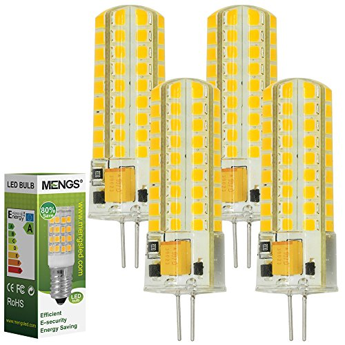 4pz MENGS Lampada Dimmerabile LED 7W G4 72x 2835 SMD LEDs (Bianca Calda 3000K, 360 angolo, 400lm,...