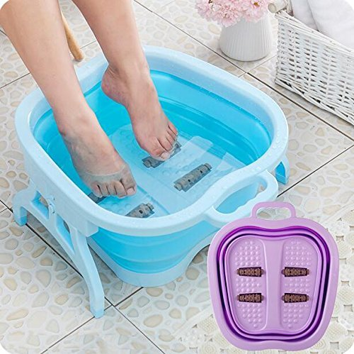 IktuTM Folding Foot Pedicure Spa Tub Collapsible Portable Roller Massage (Assorted Colour)