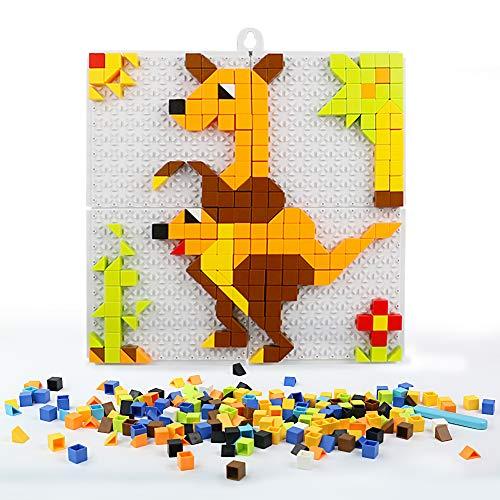 Nuheby Mosaico Bambini Mattoncini Costruzioni Gioco Puzzle Pegboard Giocattolo Regalo Ragazza...