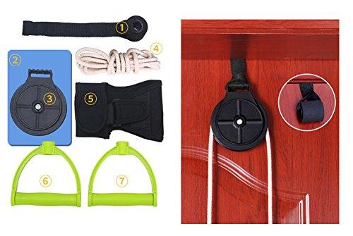 Polea de cuerda con agarre para manos,cuerda elástica para rehabilitación de hombro