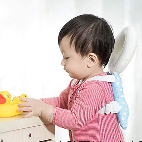 Jukkre Head Protection Pad Toddler Headrest Pillow Kids Neck Nursing Drop Resistance Cushion Backpack Mat Cute Wings Baby Cushion : Multi Color + 2019 New