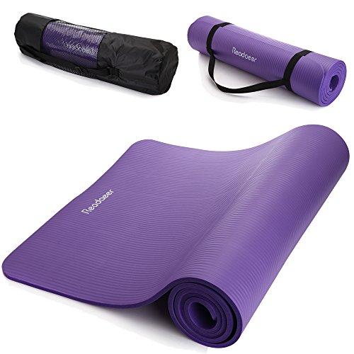Readaeer Fitness Tappetino Materassino Yoga Pilates 183 x 61 x 1,0 cm con tasca e tracolla