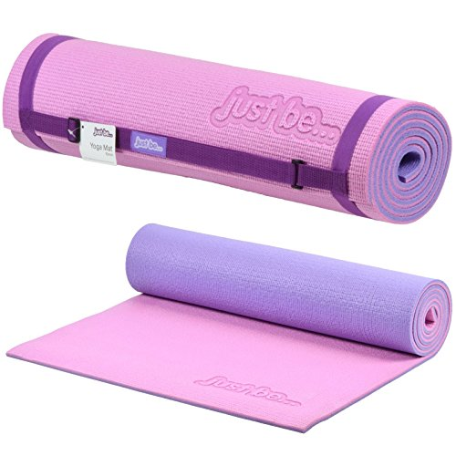 Just be. Tappetino Yoga - 180 cm, Rivestimento 10mm - Rosa/Viola