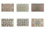Villa d'Este Home Tivoli Marrakech Set 6 Tovagliette, Assortito, 44x28x0.1 cm, 6 unità