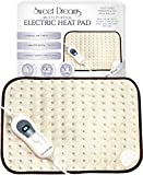 Sweet Dreams Electric Heat Pad - Therapeutic, Soothing Pain Relief Therapy for Arthritis, Tension, Stomach, Back, PMS and more (Heat Pad 30 x 40cm)