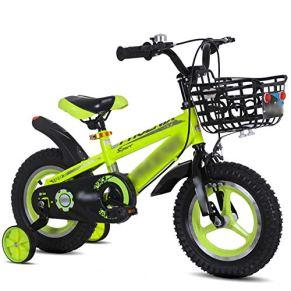 Qazxsw Bicicletas De Los Niños De 2-10 Años De Edad Niños Al Aire Libre Bicicletas De Viaje Niños Y Niñas Bicicletas Control De Seguridad Sucio Y Duradero,Verde,18inches