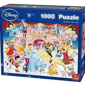 King Disney Holiday on Ice 1000 pcs 1000pieza(s) - Rompecabezas (Jigsaw puzzle, Dibujos, Niños, Disney, Multiproperty, Princesses, Mickey Mouse, Winnie the Pooh, Peter Pan, Aristocats, 101 Dalmatiers, Niño/niña)