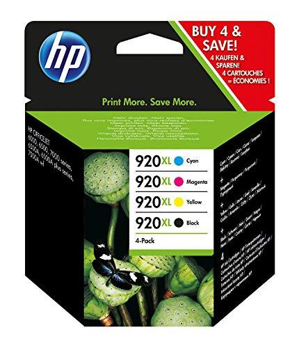 HP Inchiostro 920XL C2N92AE Cartucce, ad Alta Capacità, 3.330 Pagine, per Stampanti a Getto...