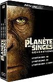 Coffret la planète des singes générations : version 1968 ; version 2001 ; les origines